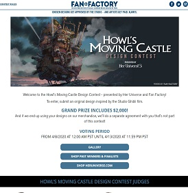 Hot Topic Howl's Moving Castle Design Contest