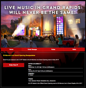 Live Nation Referral Incentive Sweepstakes